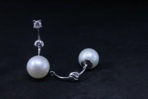 Accessori Orecchini  in oro bianco con perle fresh water