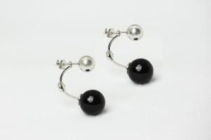 Accessori orecchini in argento con onice