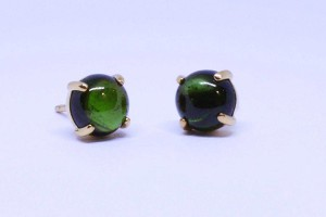 Auburn Collection Rose gold earring with green tourmaline