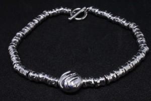 Bracciale con anima in argento