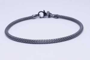 Silver bracelet ruthenium color
