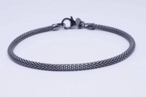 Silver bracelet ruthenium color