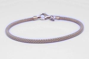 Bracciale in argento rosato
