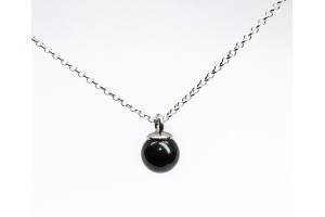 Bubble Collection.Silver pendant with onix