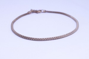 Rose Silver bracelet with chain hooked