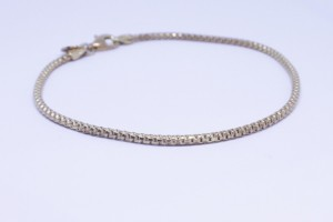 Yellow Silver  bracelet with chain hooked