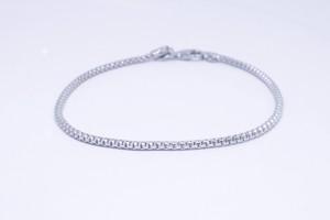Bracciale in argento  con catena agganciata