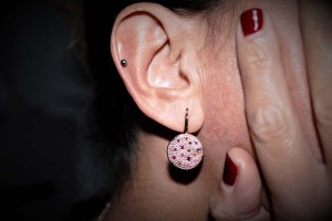 Sassi Collection Earrings rose gold and rubies