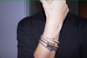 Rose Silver rigid bracelet
